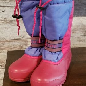 Sorel Winter Boots Girls Size 4 pink purple